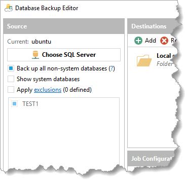 Free SQL Server Express Scheduled Backup Utility